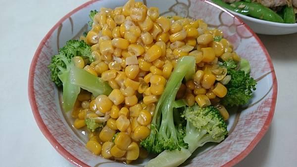 玉米燴花椰菜