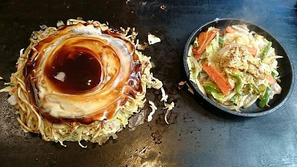 大阪燒+野菜