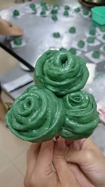 玫瑰造型饅頭~