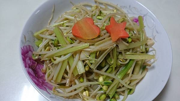 芹菜黃豆芽