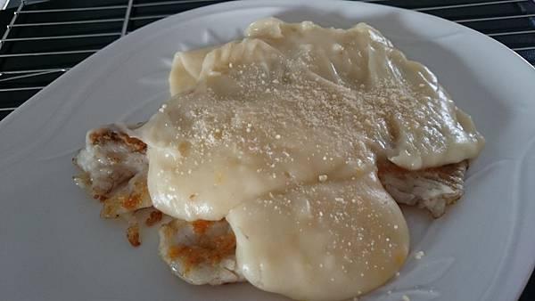 白醬焗烤魚排