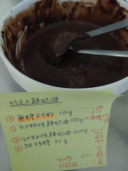 巧克力鮮奶油步驟