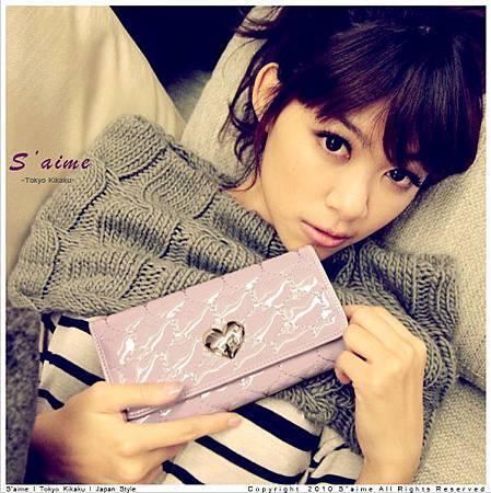 ☆S aime☆【SG1004】 日系品牌愛心魔幻鏡面皮革機能性長夾-紫540.jpg