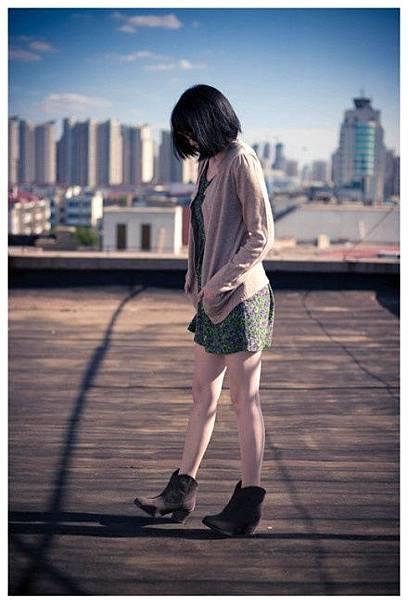 米娜小鋪 秋季新款短靴 歐美圓頭複古粗跟中跟踝靴韓版女式靴子
