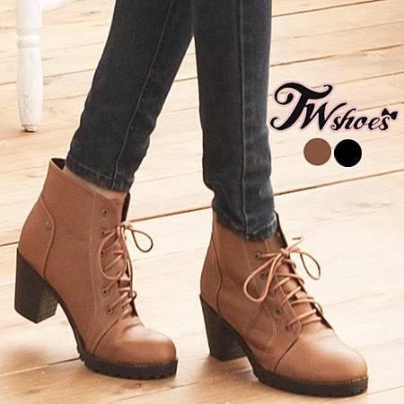 台灣鞋網〞率性風個性綁帶低跟中短靴