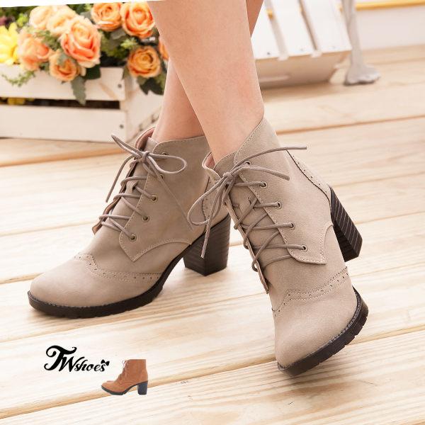 經典精緻雕花麂皮牛津靴