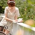 【五折價$330】☆東京著衣☆【YOCO】花葉刺繡蕾絲網紗罩衫