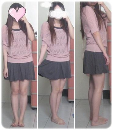 *eFashion*純淨深秋.雙圓領打摺裙襬背心裙連身裙-深灰.jpg