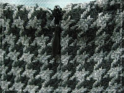 氣質優雅方領A字型低腰連身千鳥格洋裝深灰6.JPG