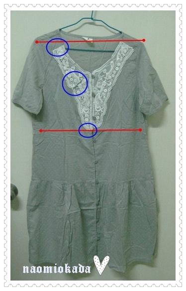 前鏤空編織蕾絲 點點織紋 短袖洋裝-瑕疵.JPG