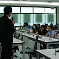 那可拿新生活教育中心的譚執行長,到南台科大推動反毒演講!