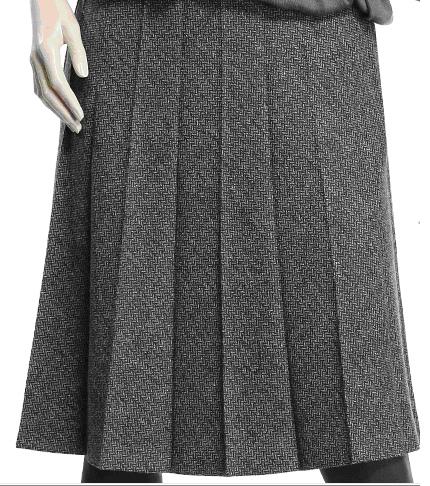 毛料及膝摺裙.bmp