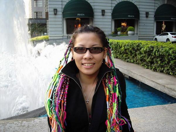 半島酒店~門口的噴水池2