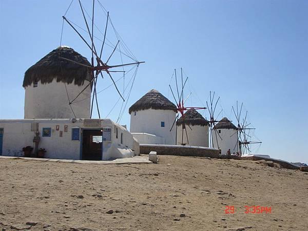 mykonos著名的風車