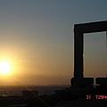 naxon的太陽神神殿遺址看夕陽