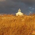 車行途中遠方的教堂