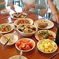 0821-往龐貝途中,在休息站吃午餐,這是自然又美味的一餐