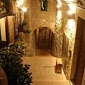 0820-Assisi 鎮上吃晚餐的餐廳門口