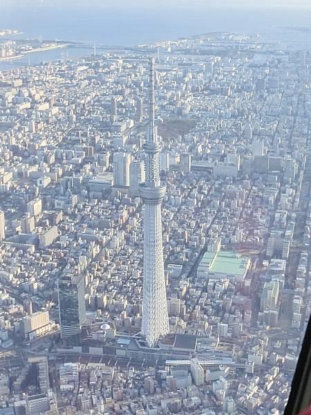 直升機內拍鐵塔