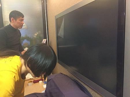 """55"""" Panasonic-P54Z1W 電漿電視鍍膜剝落貼頂級AR鍍膜"""