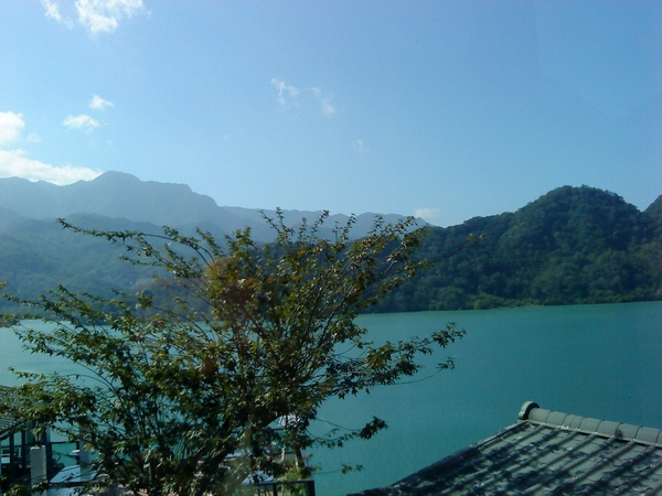 湖光山景樹影
