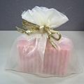 皇家紗袋+手工皂的包裝成品