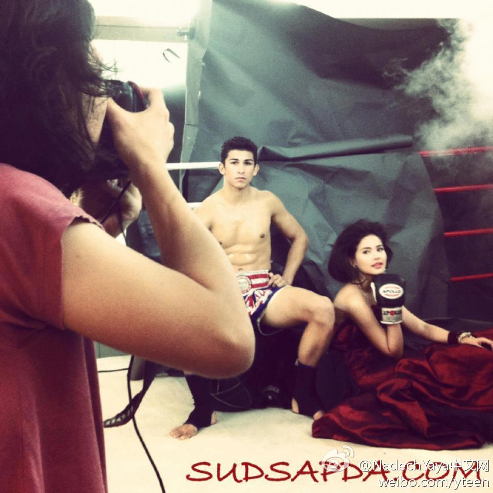 Yaya今天下午拍攝Sudsapda雜誌