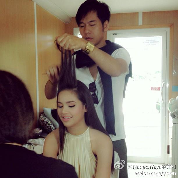 Yaya2012-06-23廣告拍攝做髮型