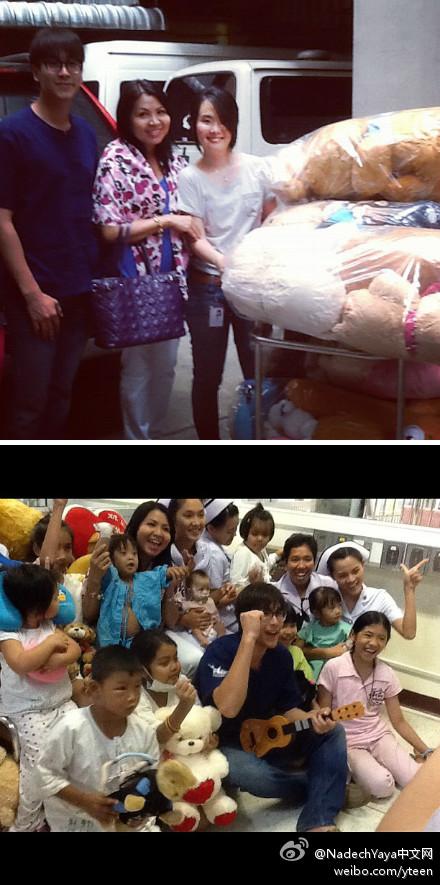 Nadech2012-07-29和媽媽到兒童醫院心內科看望孩子們