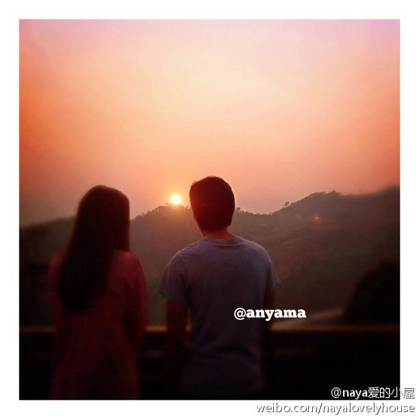 Anyama更新IG:Magic hour P Athit和Nong Nee看日出,虐心的一幕啊