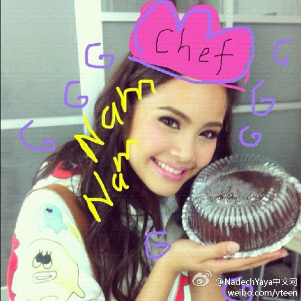 "Yaya2012-08-09更新IG,""I baked a cake""。原來昨天自己烤了個蛋糕。"