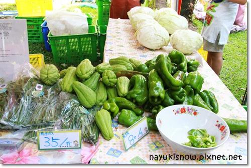 有機高麗菜、青椒