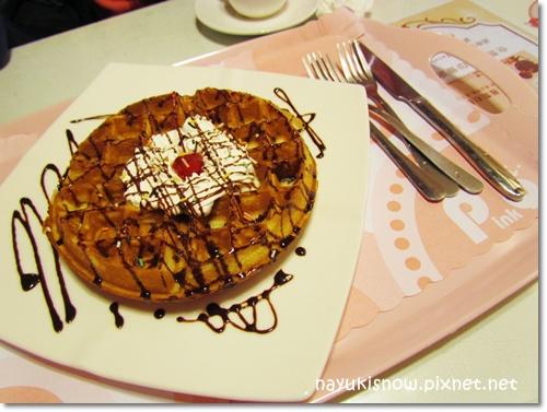 巧克力鮮奶油鬆餅