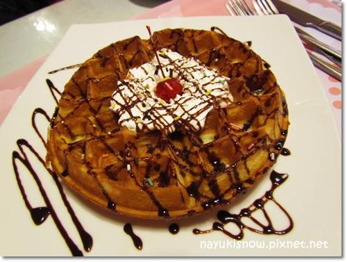 巧克力香奶油鬆餅