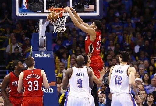 NBA即時比分「一眉」戴維斯狂轟38分 雷霆KD缺陣繳械輸球