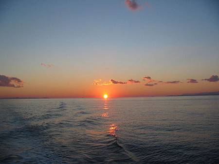 Sunset in the Mediterranean sea