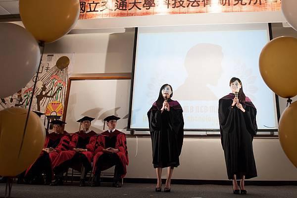 碩班畢業生代表致詞