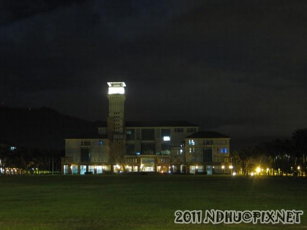 20110611_畢業典禮-夜景-圖資大樓