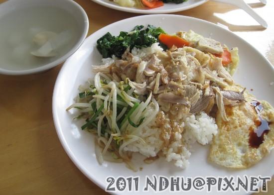 20110930_道奇火雞肉飯-火雞肉飯70元(附湯)