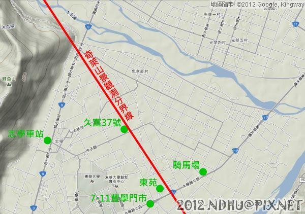 20120302_奇萊山景觀測分界線(小範圍)