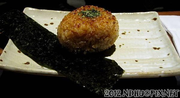20120802_老時光燒肉酒肴_明太子烤飯糰60元