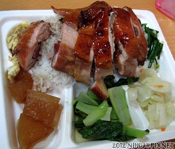 20120909_港龍燒臘店_蜜汁燒雞腿飯80元