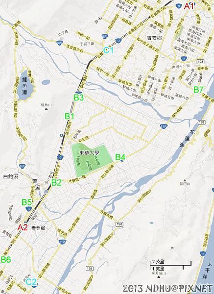 20130329_東華週邊加油站分佈圖