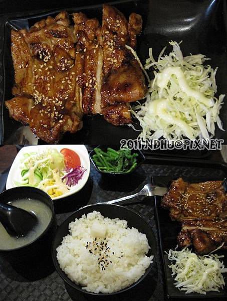 20110430_花田樂日式小舖-照燒雞腿定食160元(茶碗蒸未入鏡)