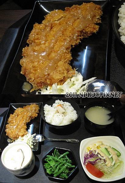 20110430_花田樂日式小舖-味噌豬排定食150元