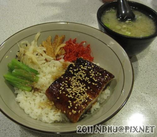 20110318_加賀日式料理蒲燒鰻魚丼(附湯)120元