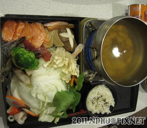20110318_加賀日式料理日式海鮮火鍋(附飯)200元