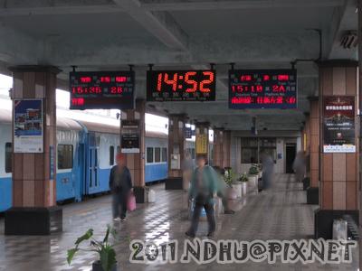 20110408 到達花蓮,月台上也沒多少人