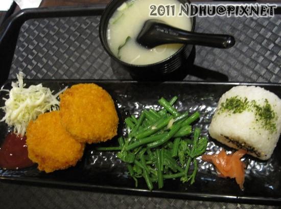 20110430_花田樂日式小舖-起司可樂餅套餐100元