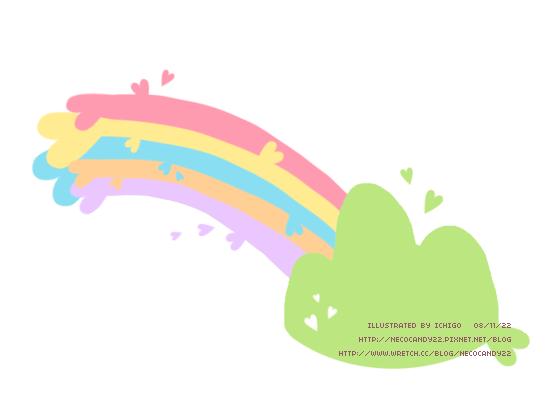 彩虹 手繪